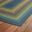 Product Image of Green, Light Blue, Chocolate (86) Outdoor / Indoor Area Rug