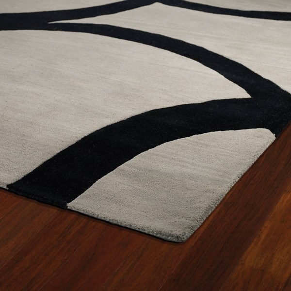 Graphite, Black (68) Geometric Area Rug