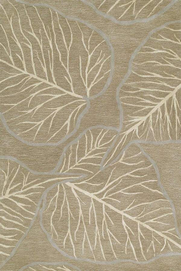 Chocolate, Sand, Grey (40) Floral / Botanical Area Rug