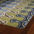 Product Image of Blue, Wasabi Green, Sand (17) Contemporary / Modern Area Rug