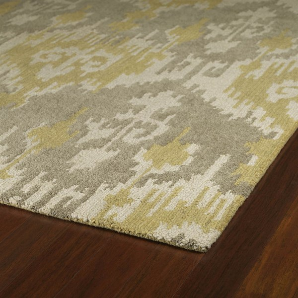Taupe, Beige, Yellow (68) Ikat Area Rug