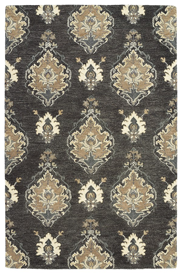 Charcoal, Sable, Camel, Pewter Green, Beige (38) Traditional / Oriental Area Rug