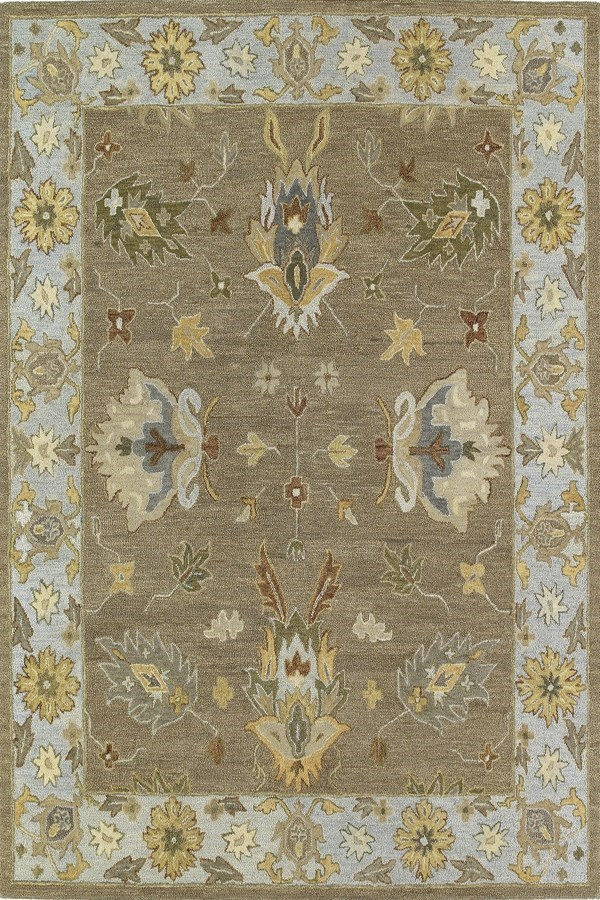 Mocha, Soft Gold, Khaki (60) Traditional / Oriental Area Rug