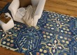 Product Image of Navy, Denim, Turquoise, Camel, Spring Green (22) Bohemian Area Rug