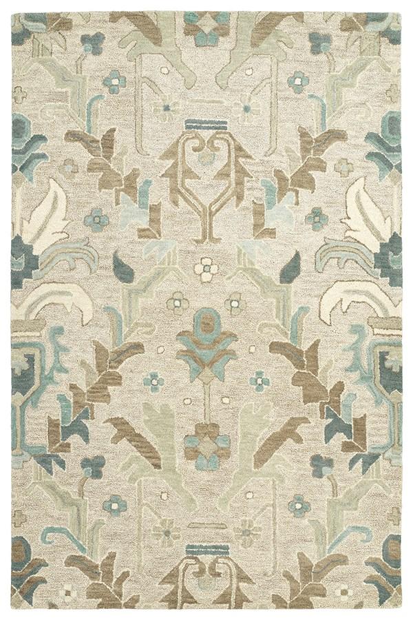 Oatmeal, Turquoise, Jade, Taupe, Linen (84) Bohemian Area Rug