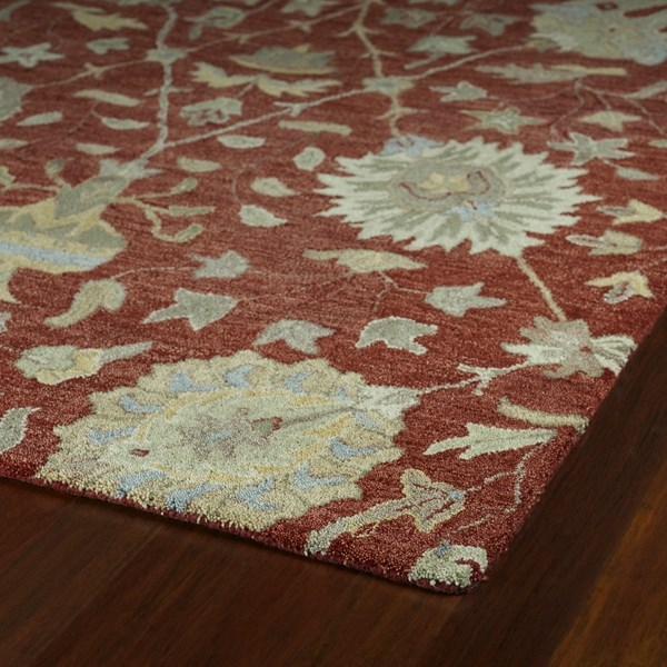 Red, Sage, Gold (25) Traditional / Oriental Area Rug