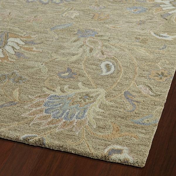 Light Brown, Light Gold, Slate Blue (82) Traditional / Oriental Area Rug