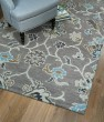 Product Image of Grey, Light Blue, Brown (75) Traditional / Oriental Area Rug