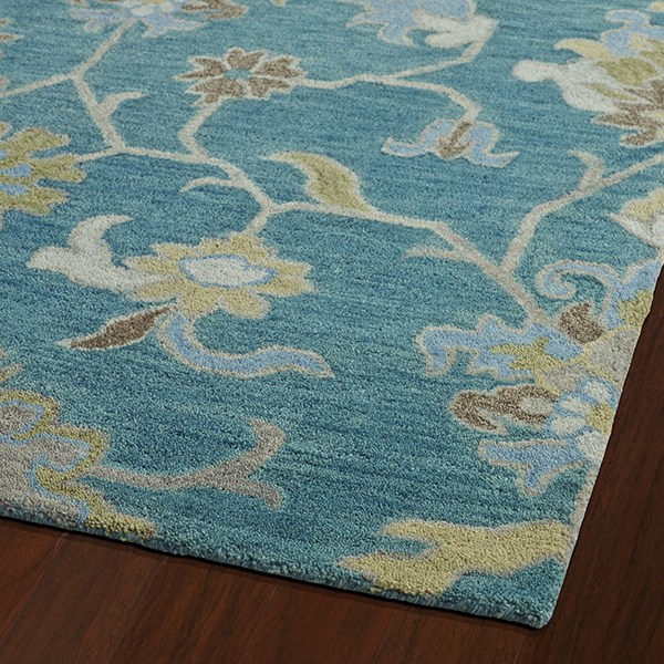 Turquoise, Brown, Sage (78) Traditional / Oriental Area Rug