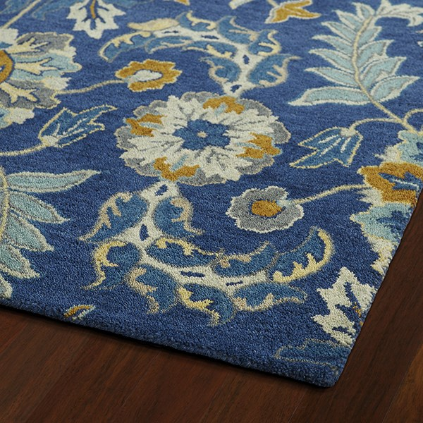 Blue, Denim Blue, Grey (17) Traditional / Oriental Area Rug