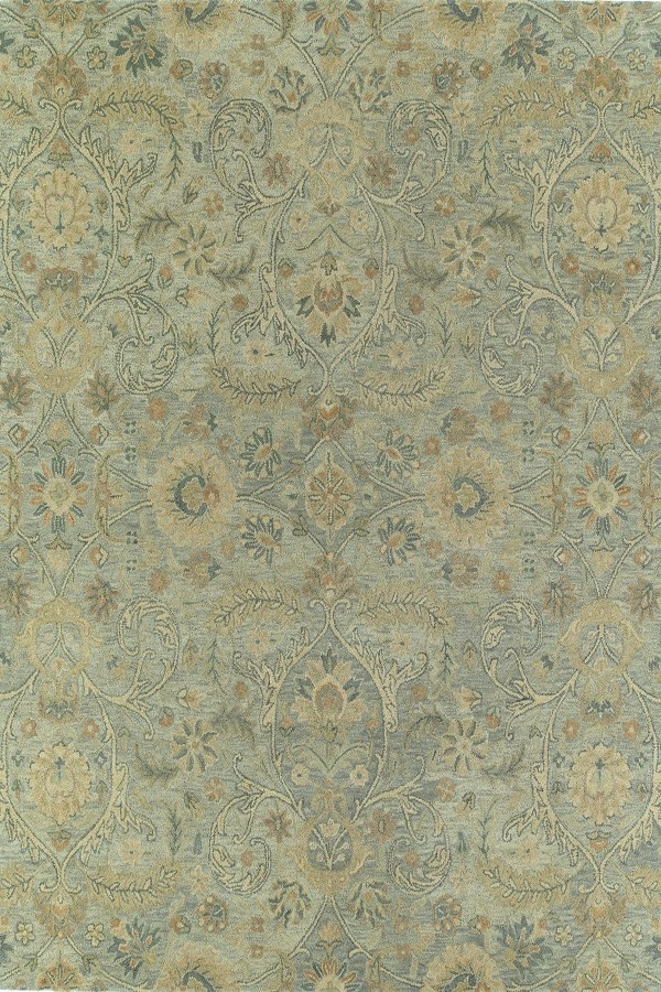 Silver, Light Blue, Light Gold (77) Traditional / Oriental Area Rug