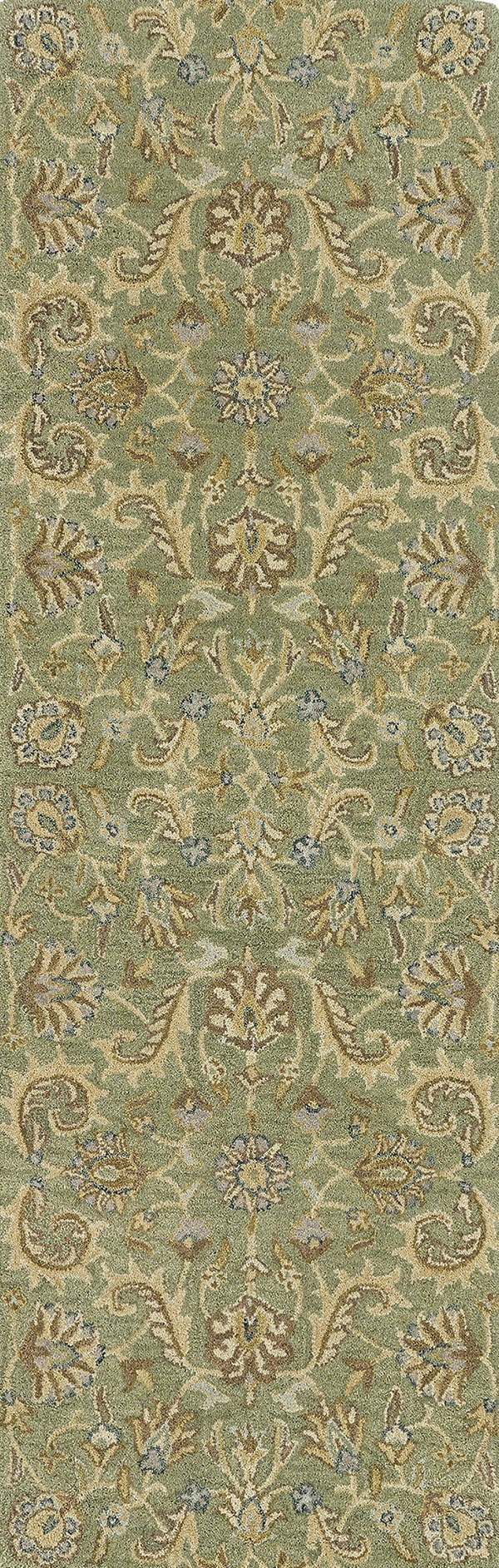 Green, Brown, Taupe (50) Traditional / Oriental Area Rug