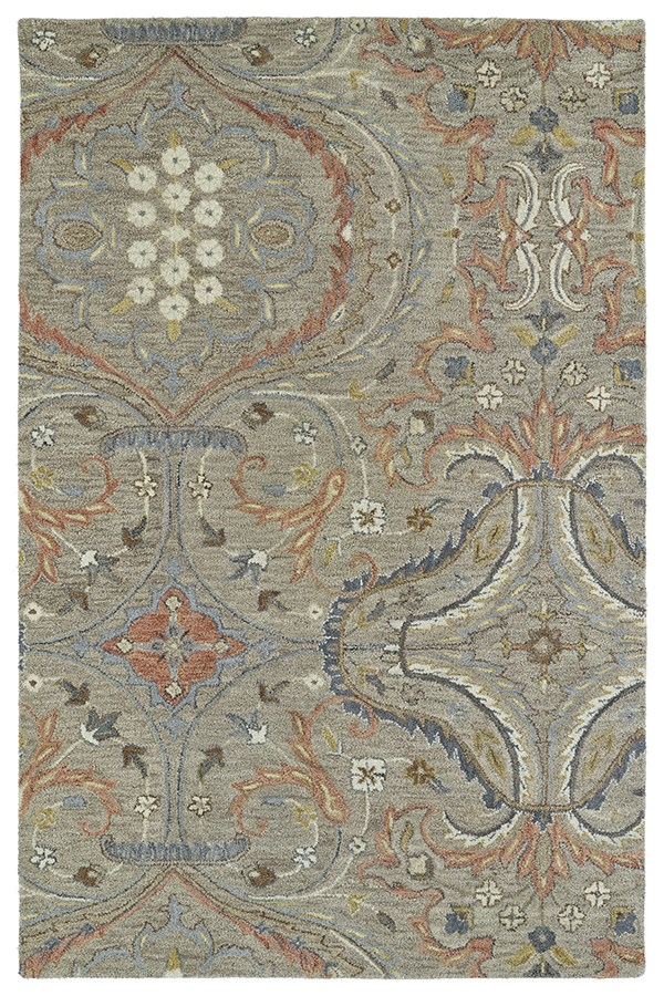 Taupe, Terracotta, Beige (27) Transitional Area Rug
