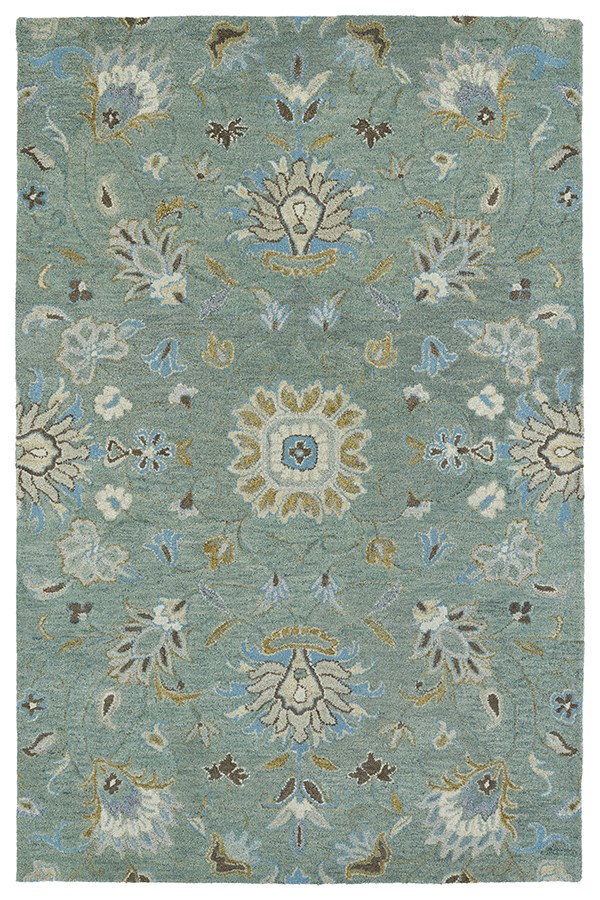 Mint, Camel, Sky Blue (88) Traditional / Oriental Area Rug