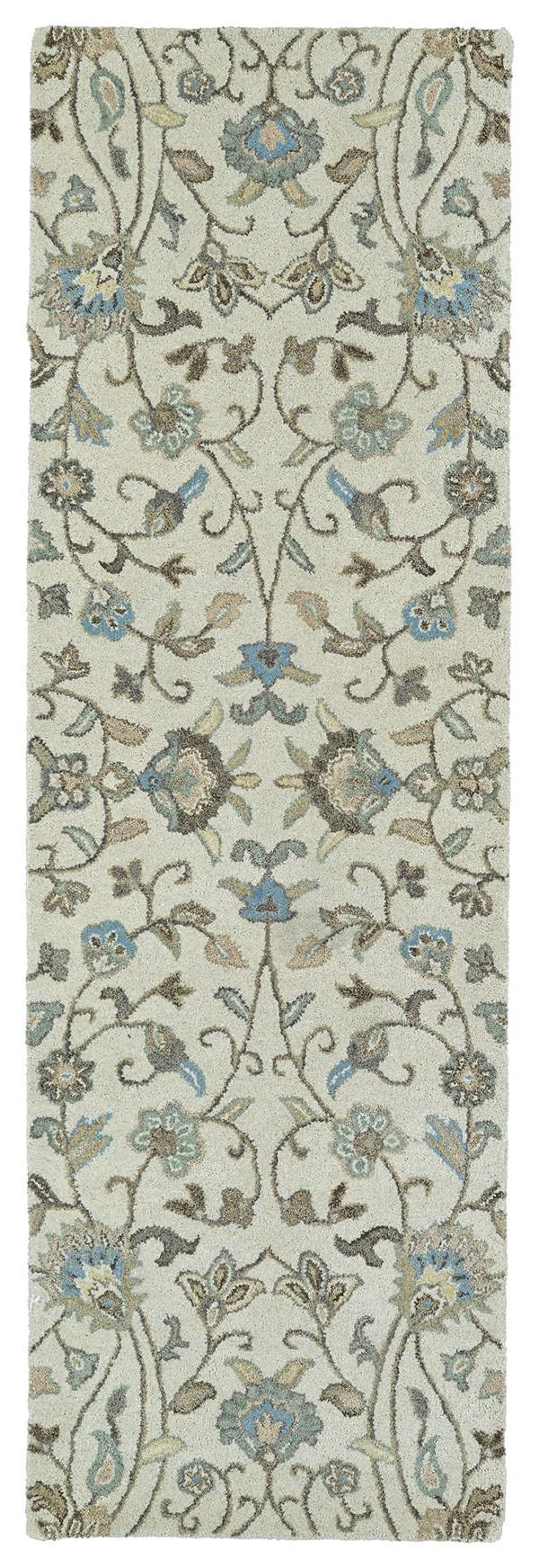 Beige, Light Blue, Light Brown (03) Traditional / Oriental Area Rug