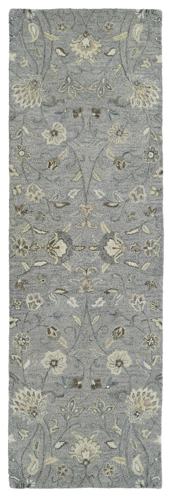 Grey, Ivory, Beige (75) Traditional / Oriental Area Rug