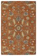 Product Image of Traditional / Oriental Paprika, Linen, Steel Blue, Mushroom (53) Area Rug