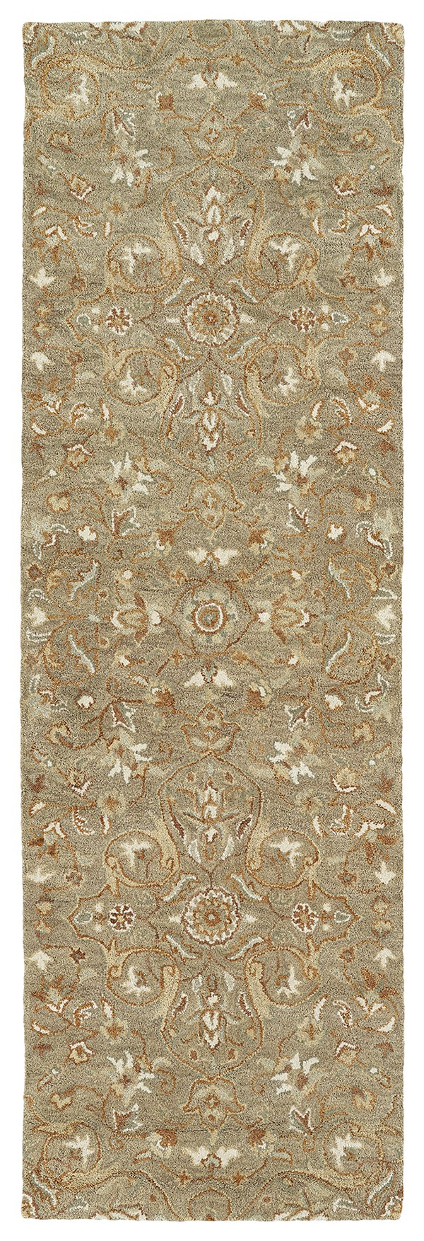Light Brown, Linen, Copper, Jade (82) Traditional / Oriental Area Rug