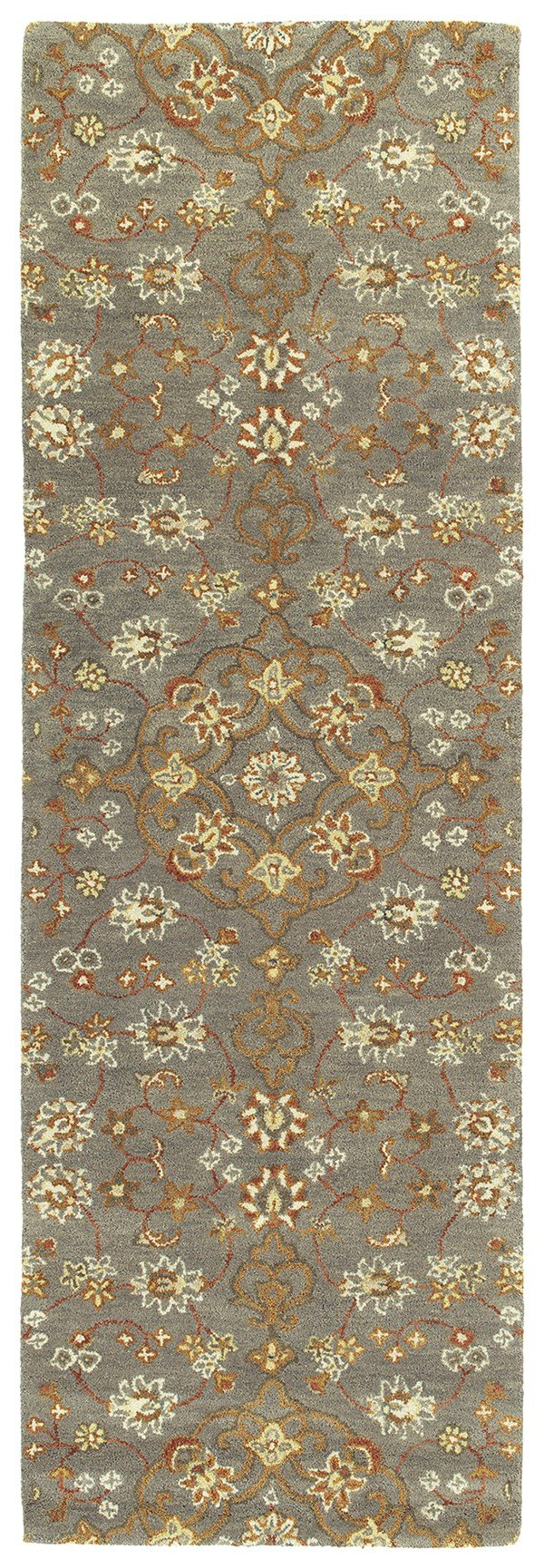 Pewter Green, Linen, Ivory, Copper (102) Traditional / Oriental Area Rug