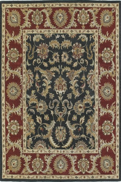 Graphite, Brick Red, Light Camel (68) Traditional / Oriental Area Rug