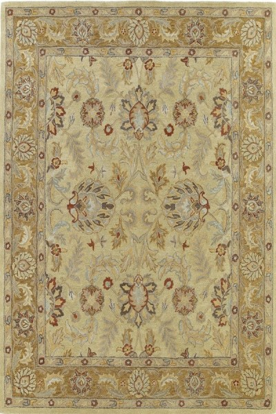 Gold, Camel, Ivory (05) Traditional / Oriental Area Rug