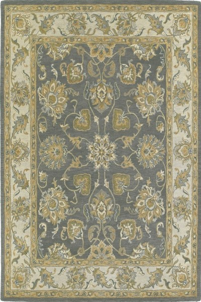 Pewter, Olive Green, Beige (73) Traditional / Oriental Area Rug
