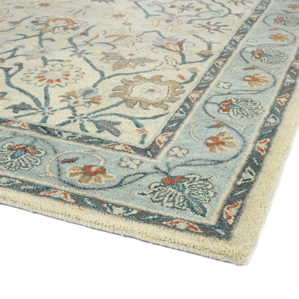 Ivory, Blue (01) Transitional Area Rug