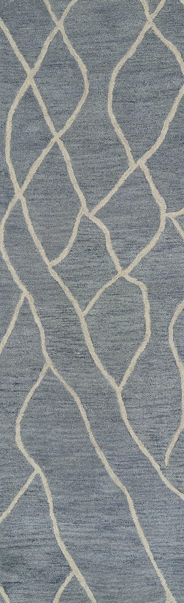 Greyish Blue, Ivory (75) Southwestern / Lodge Area Rug