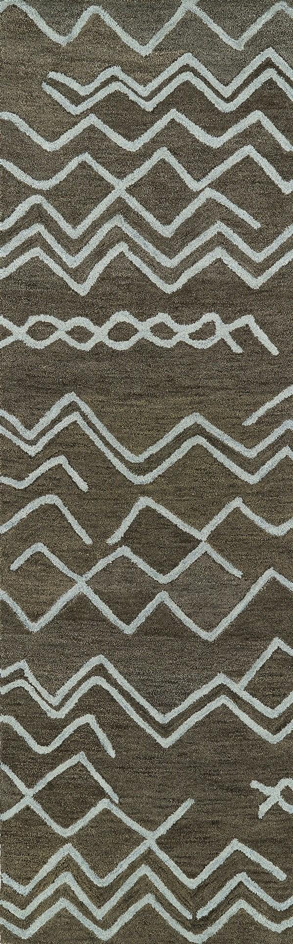 Charcoal, Sky Blue (80) Southwestern / Lodge Area Rug