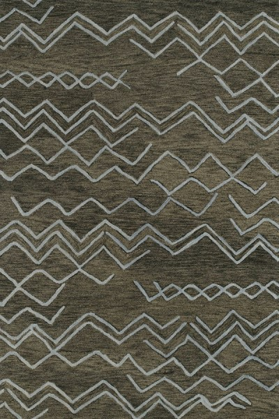 Charcoal, Sky Blue (80) Moroccan Area Rug