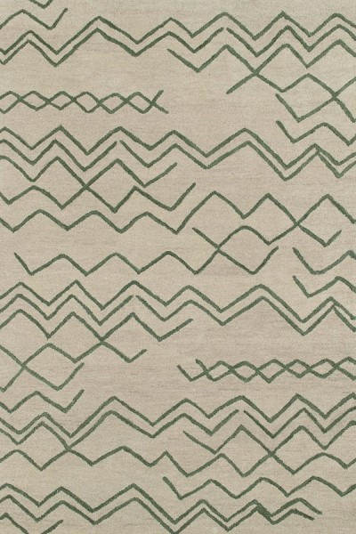 Emerald Green, Beige (81) Southwestern / Lodge Area Rug