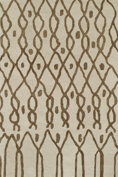 Sand, Chocolate (01) Moroccan Area Rug