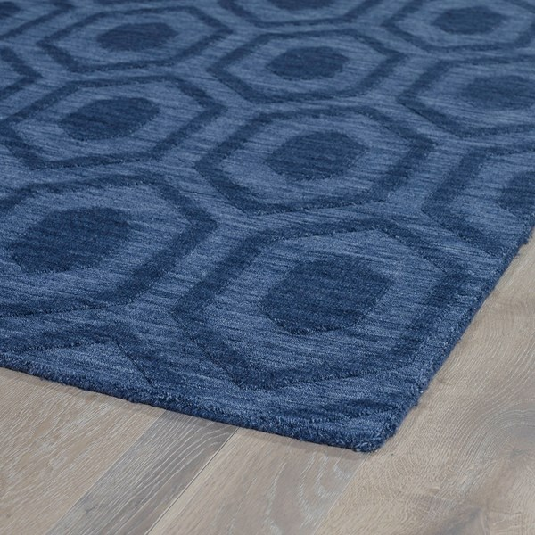Blue (17) Textured Solid Area Rug