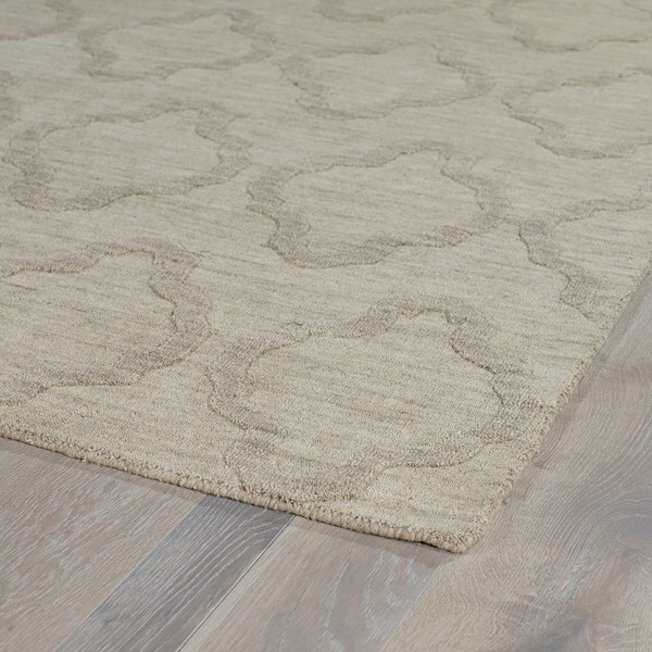 Oatmeal (84) Textured Solid Area Rug