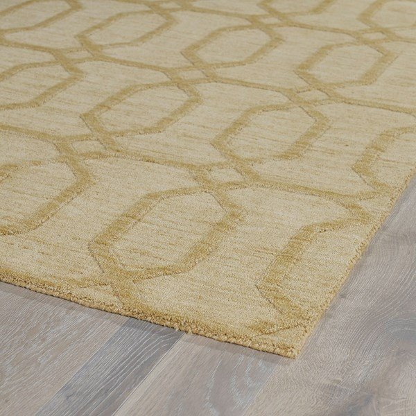 Yellow (28) Textured Solid Area Rug