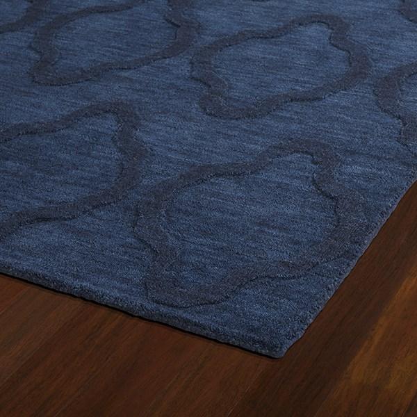 Navy (22) Textured Solid Area Rug