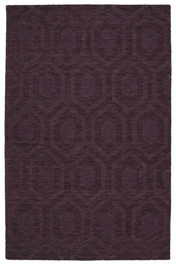 Purple (95) Textured Solid Area Rug
