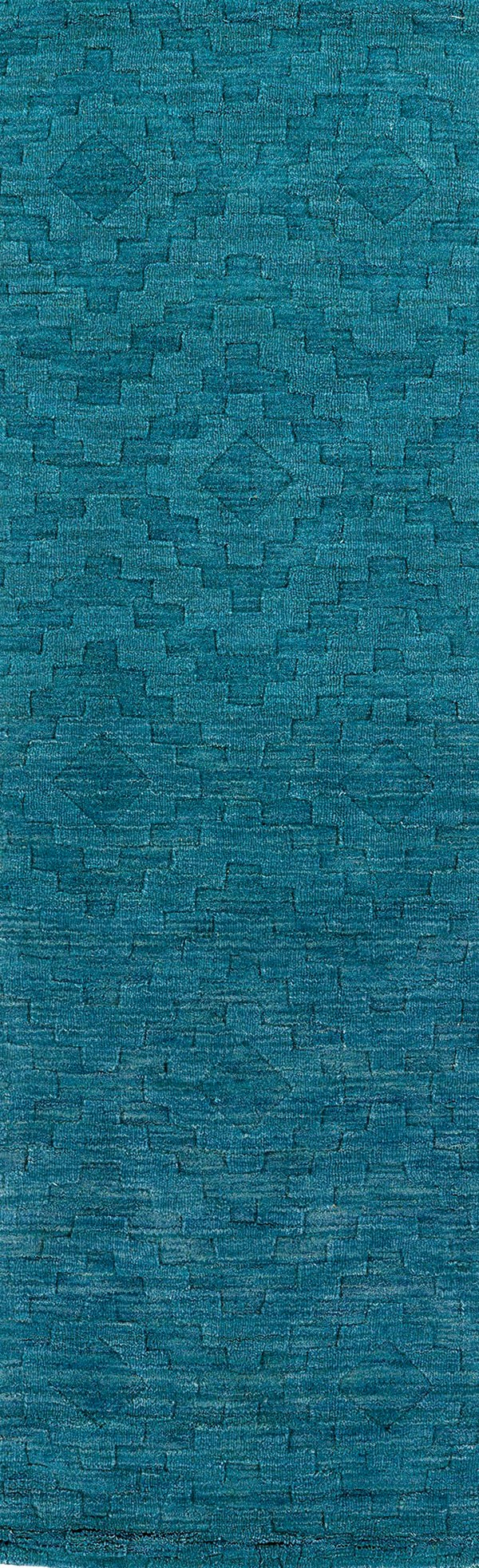 Turquoise (78) Textured Solid Area Rug