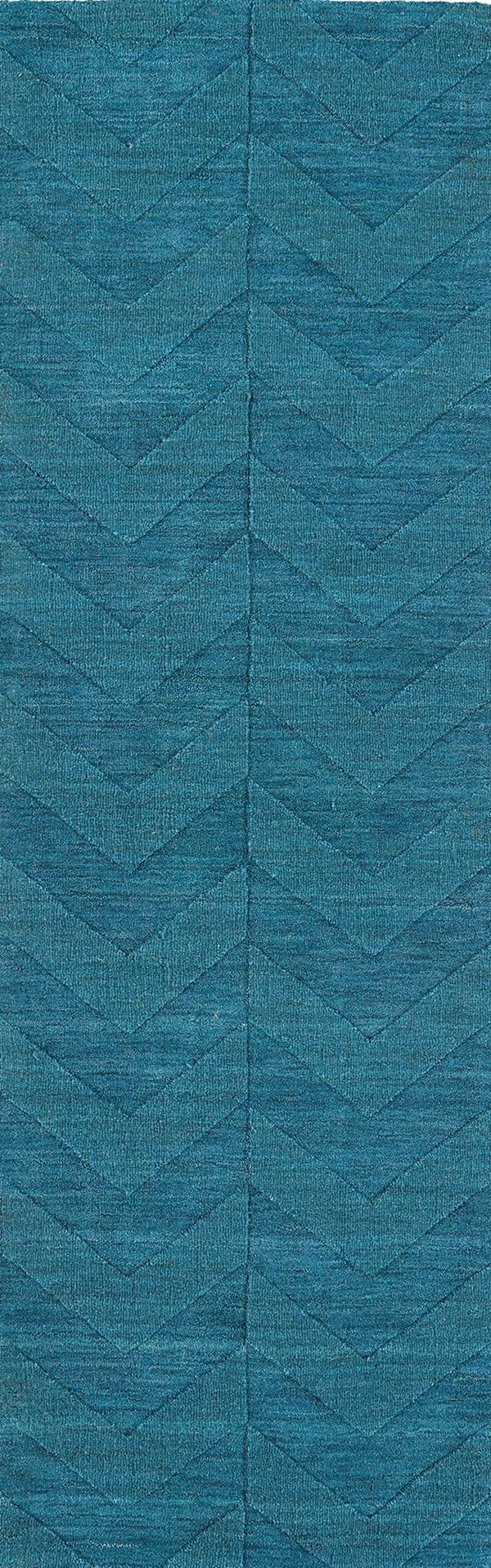 Turquoise (78) Chevron Area Rug