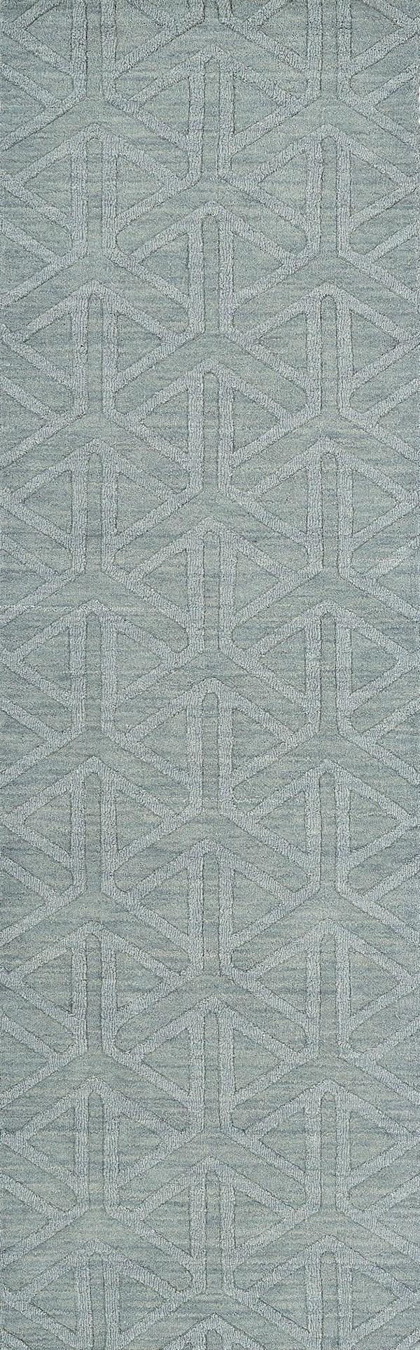 Light Blue (79) Textured Solid Area Rug