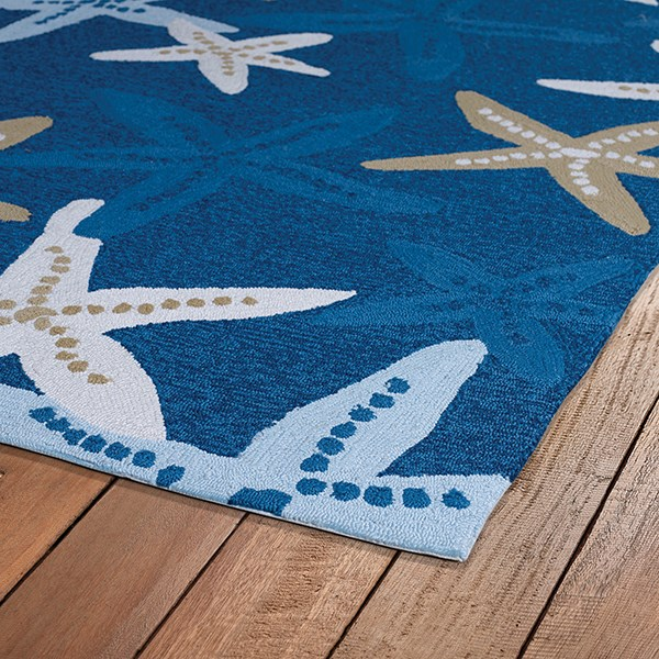 Blue, Ivory, Camel (17) Outdoor / Indoor Area Rug