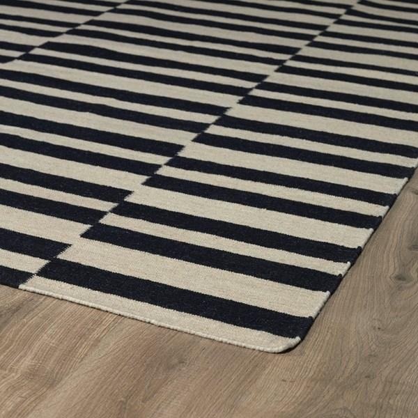 Black, Beige (02) Transitional Area Rug