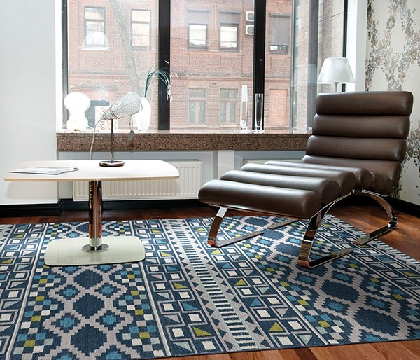Blue, Wasabi, Grey (17) Moroccan Area Rug
