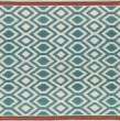Product Image of Turquoise, Ivory, Paprika (78) Southwestern / Lodge Area Rug