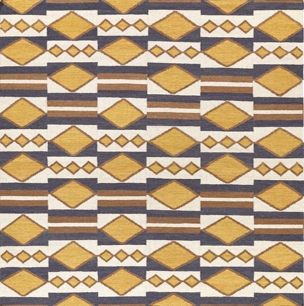 Gold, Mustard, Beige (05) Southwestern / Lodge Area Rug