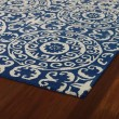 Product Image of Navy, Ivory (22) Moroccan Area Rug