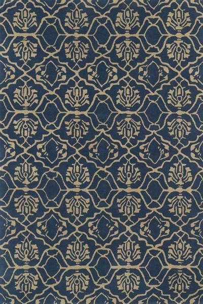 Denim Blue, Light Brown (80) Transitional Area Rug