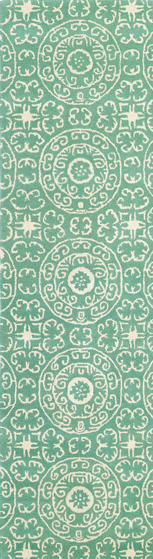 Mint, Ivory (88) Moroccan Area Rug