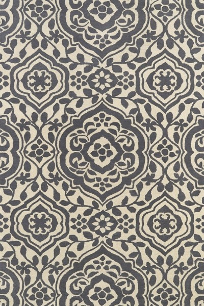 Charcoal, Ivory (75) Contemporary / Modern Area Rug