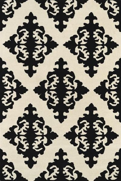 Black, Ivory (02) Traditional / Oriental Area Rug